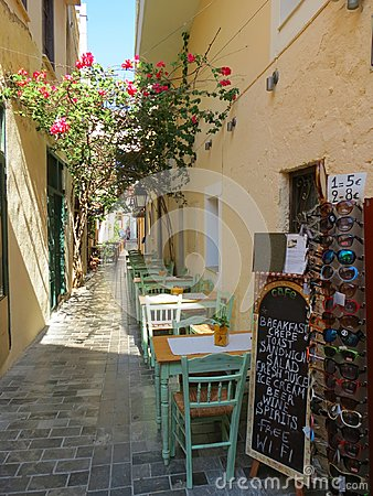 Free The Streets Of Rethymno Are Striking In Beauty Stock Image - 119091331