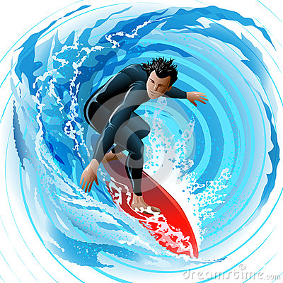 Free The Surfer Royalty Free Stock Photos - 35083158