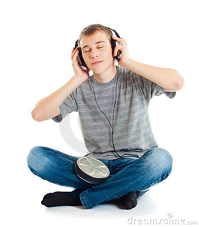 Free The Teenager Listens To Music Stock Images - 23066714