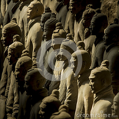 Free The Terracotta Army Stock Photography - 41568912