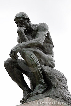 Free The Thinker By Rodin Royalty Free Stock Photography - 10531747
