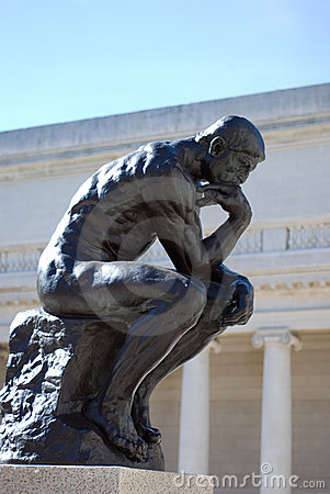 Free The Thinker By Rodin Stock Photo - 3294960