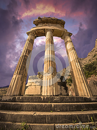 Free The Tholos, Delphi, Greece Royalty Free Stock Image - 46677216