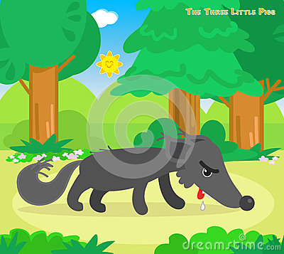 Free The Three Little Pigs 11: The Hungry Wolf Stock Images - 68844934