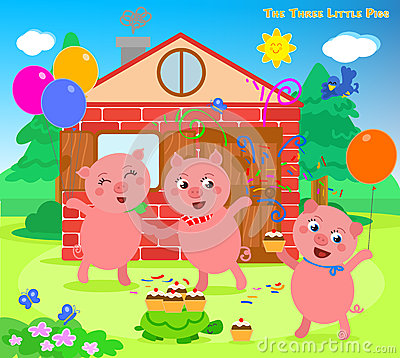 Free The Three Little Pigs 12: Happy Ending Royalty Free Stock Image - 69026456