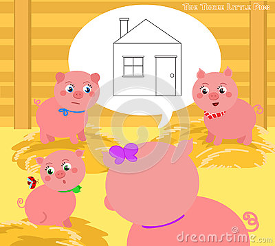 Free The Three Little Pigs 2. A New House Stock Photography - 68107902