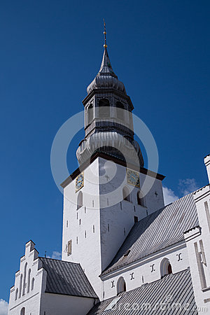 Free The Tower Of Budolfi Church, Aalborg, Denmark Royalty Free Stock Images - 54859089