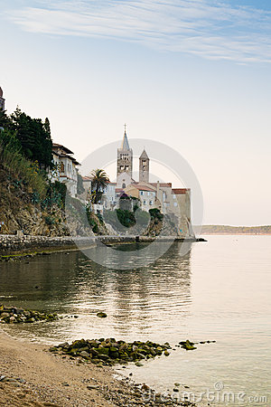 Free The Town Of Rab, Croatian Tourist Resort Famous For Its Bell Tow Royalty Free Stock Photo - 62596235