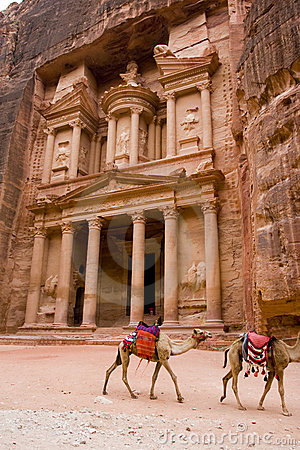 Free The Treasery, Petra, Jordan Stock Images - 6863804