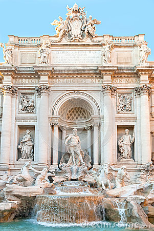 Free The Trevi Fountains In Rome, Italy. Stock Photos - 48927643