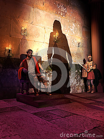 Free The Trial Of Jesus Christ Before Pilate Royalty Free Stock Images - 28602239