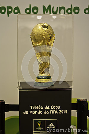 Free The Trophy Of The 2014 FIFA World Cup In Brazil Stock Photo - 26762310