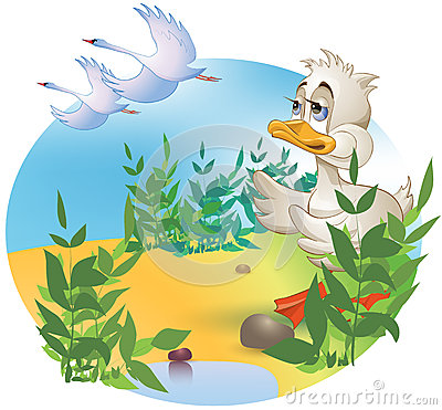 Free The Ugly Duckling Royalty Free Stock Photo - 50535025