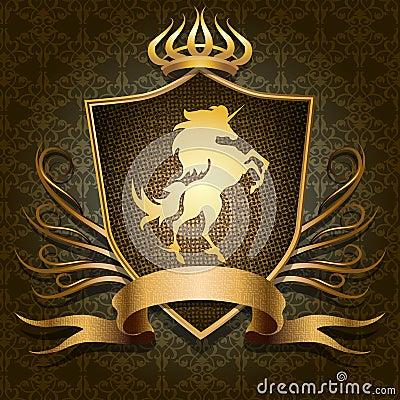 Free The Unicorn Shield Stock Photography - 35514942