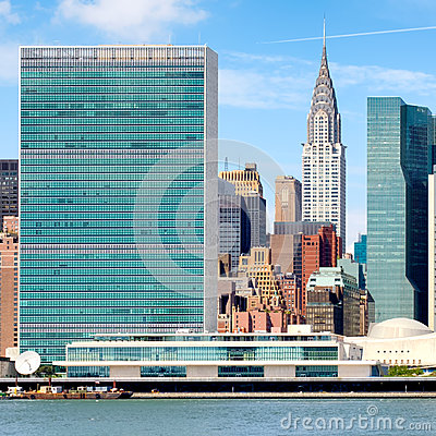 Free The United Nations Headquarters Building In Midtown Manhattan Stock Photos - 81101153