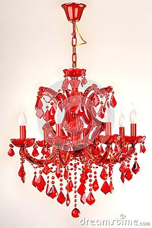 Free The Wedding Gift, Red Crystal Lighting Keepsake, Christmas Gift Holiday Gift Romantic Home Furnishing Decoration Stock Photos - 30993383