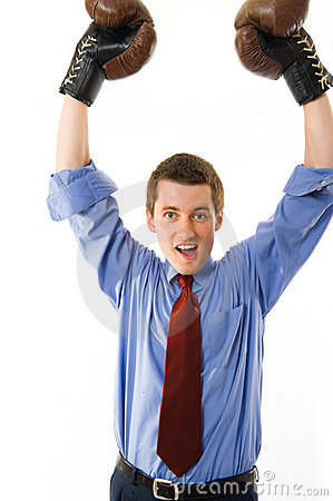 Free The Winner. Businessman Boxer. Royalty Free Stock Image - 5281646
