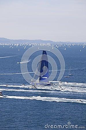 Free The Winner Of Barcolana Regatta 2010 Royalty Free Stock Photos - 16855958