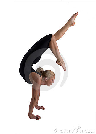 Free The Woman The Gymnast Royalty Free Stock Photos - 11460428