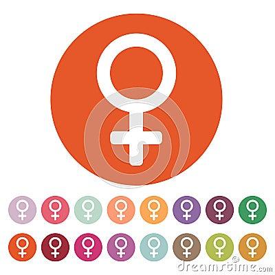 Free The Women Icon. Female Symbol. Flat Stock Photos - 78880573