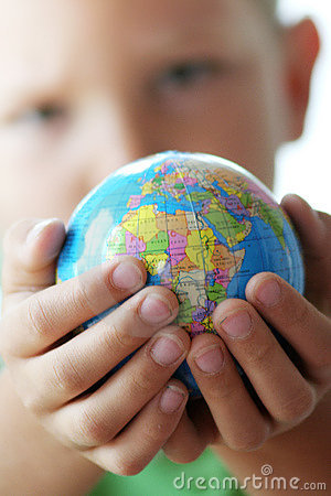 Free The World In Kids Hands Stock Photos - 7044583