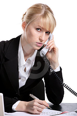 Free The Young Business Woman Speaks By Phone Stock Photo - 12795770
