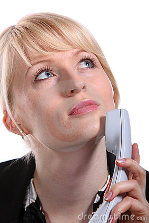 Free The Young Business Woman Speaks By Phone Stock Photography - 12851162