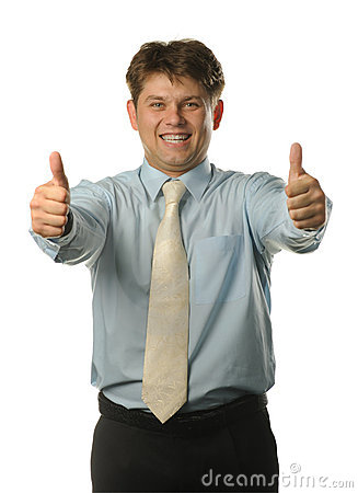 Free The Young Businessman With Approving Gesture Stock Photo - 10451230