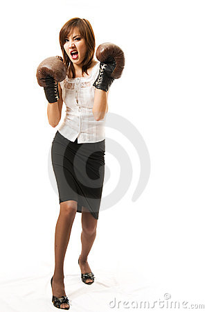 Free The Young Japanese Businesswoman Attacks Royalty Free Stock Photo - 5281895