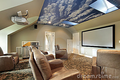 Theater with ceiling design
