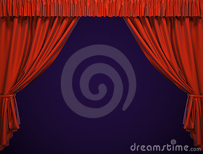 Theater curtain.