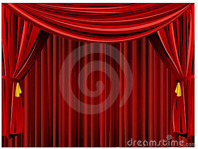 Theater curtain background