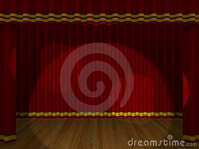 Theater curtain closed