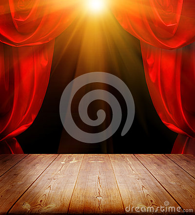 Free Theater Curtains Stock Photo - 30503990