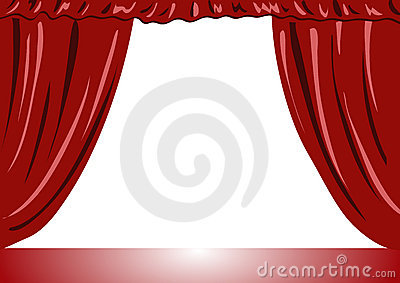 Theater curtains vector illustration
