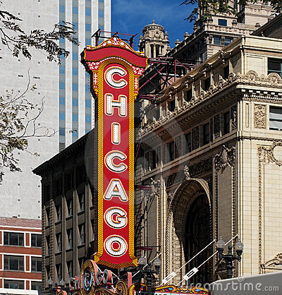 Theater District - Chicago - USA Editorial Stock Photo