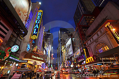 Theater District, Manhattan, New York City Editorial Stock Photo