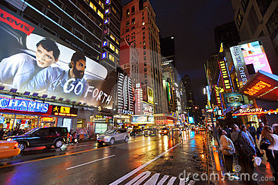 Theater District, Manhattan, New York City Editorial Photography