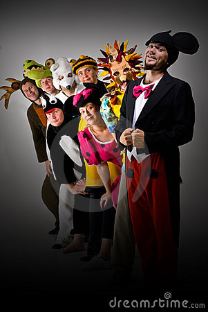 Free Theater Group In Costumes Royalty Free Stock Images - 5546959