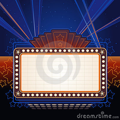 Free Theater Marquee Royalty Free Stock Image - 15463286