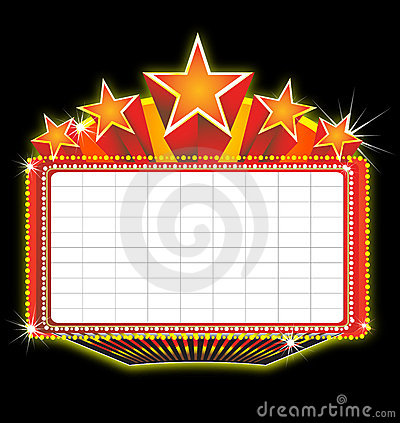 Theater Marquee Sign Stock Photo - Image: 13088750