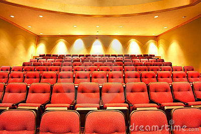 Theater seats in hall