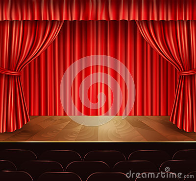 Free Theater Stage Background Royalty Free Stock Photography - 47460127