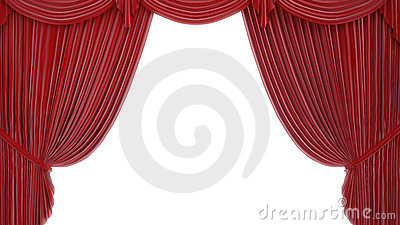 Theater or stage curtain