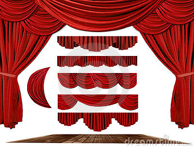 Theater STage Drape Elements to Create Your Own Ba