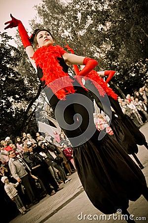 Theater on stilts Editorial Stock Photo