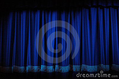 Curtains Ideas blue velvet curtains : Theatre Curtains Royalty Free Stock Photography - Image: 11545497