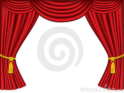 Theatre curtains with copy space