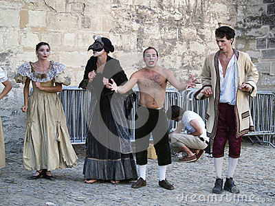 Theatre festival in Avignon, july 2005 Editorial Stock Image