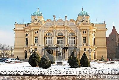 Theatre in Krakow, Poland